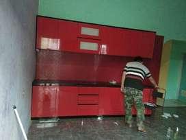 kitchen set minimalis castem sesuai permintaan