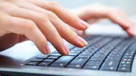 Requirement of fresher girl for receptionist front office job apply