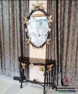 Console Table with Mirror Frame