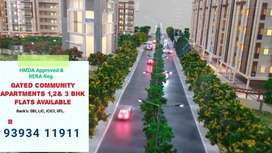 Luxury Gated Apart 1,2&3 Bhk Flats at Patancheru