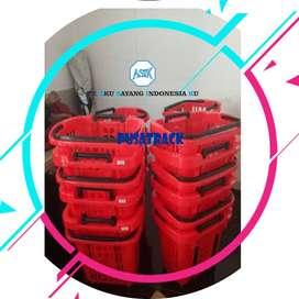 Keranjang belanja Merah Beroda