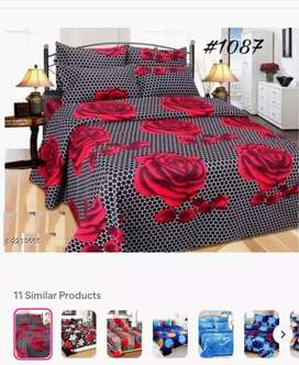 Classic micro fibre printed double bedsheet