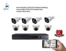 paket cctv 2mp merek top 8chanel