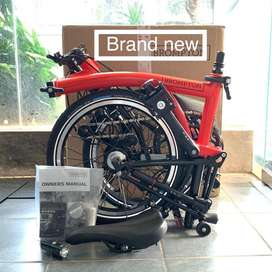 Brompton New M6L Red Rocket 2020 Color Black Edition