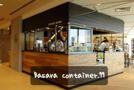 Container coffee shop, semi container, booth usaha, booth kedai