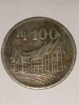 009= Uang Koin indonesia 100Rupiah Langka Tahun 1973