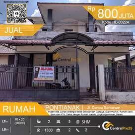 Dijual cepat rumah 2 lantai, Danau Sentarum Murah Pusat Kota Pontianak