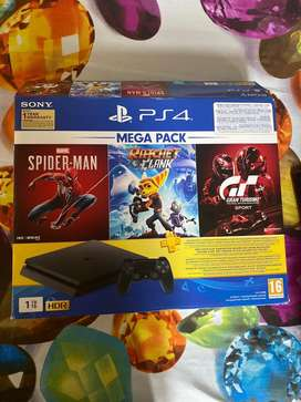 Ps4 slim console 10 days old with all accessories and bill,1tb version