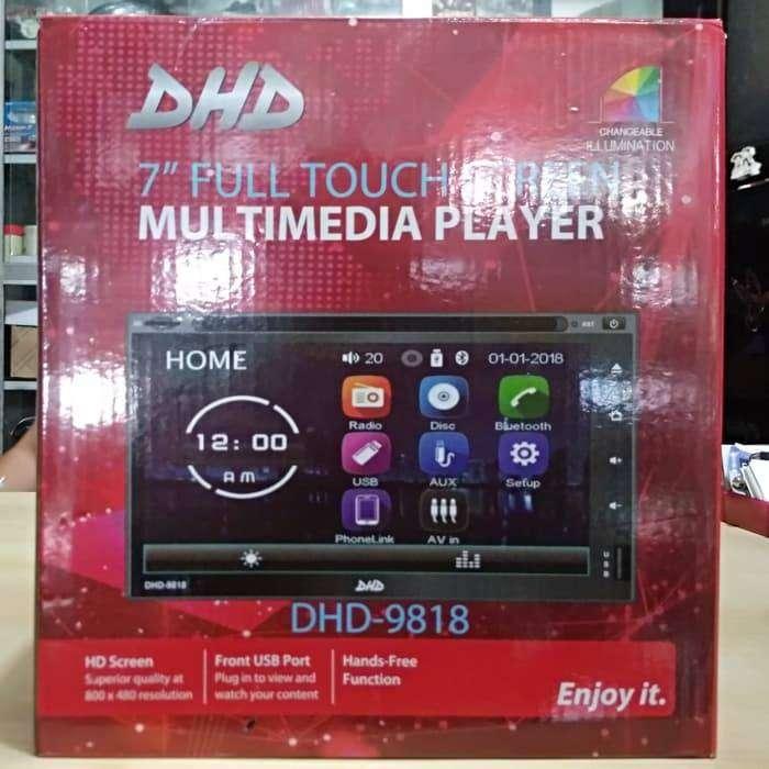 Head Unit Double Din DHD 9818 FULLGLASS  Mp4 Full HD MIRRORLINK USB 0