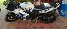 R15 v3 white colour blue graphic mint condition single owner