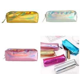 Sale tempat pensil hologram 3 warna bagus murah