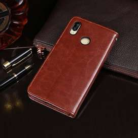 Flip Wallet Kulit Leather Cover Case Card Kartu Huawei Nova 3i Nova3i