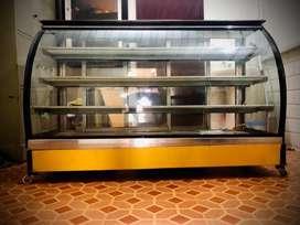 Bakery Showcase 5ft length wheel type