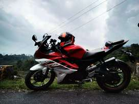 Yamaha R15 v2 bike is a good condition bike with k&n filter