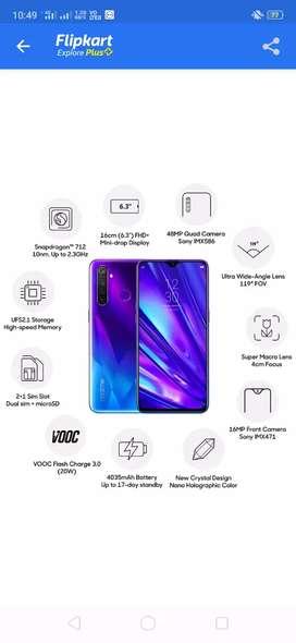 Realme 5 pro  ram 4gb rom 64gb purchase date 20/09/2019