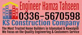 Any type House construction Service with material Islamabad Rawalpindi