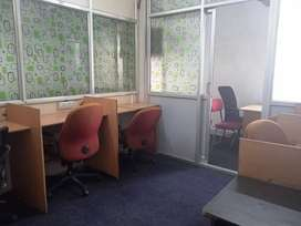 office with MD cabin & five seats for rent Furnished near metro statio