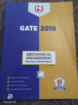 GATE 2019 Mechanical previous solved book bank