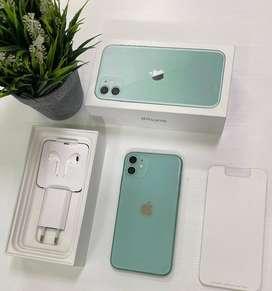 apple iphone 11 128GB GREEN mulus masih garansi (IBOX) ,fulset
