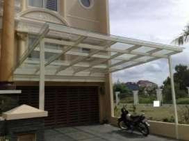 Canopy bajaringan,Alderon,solarflat,canopy kaca,konstruksi baja
