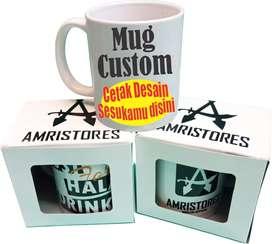 Mug gelas cangkir custom cetak desain sesuka kamu