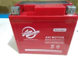 Aki Nano Gell Satria FU, Vario 125/150,CB150R 7 ah pendamping  helm