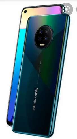 Infinix note 7 6/128 10/10 just 2 month used complete box 10 month war