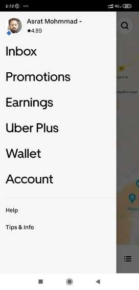 Kisi ko Uber cab rent par deni jo to