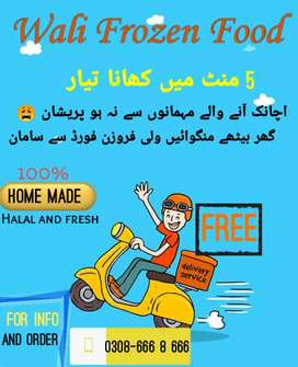 Homemade and fresh food wali frozen food