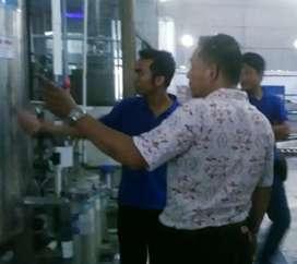 Pabrik Air kemasan Gelas ; mesin 9 Cup + Karton pipet