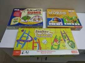 6 Board games for kindergarten, good for preshooler, good condition