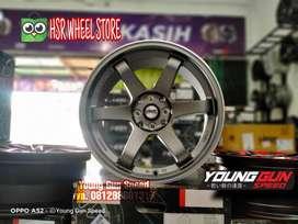 Velg Racing Ring 17 HSR TOKYO lebar 75/9 buat Jazz Swift Mazda2 Vios
