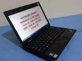 "Notebook Pelajar Lenovo Thinkpad X120, ram 4g, hdd 250g, lcd 12"""