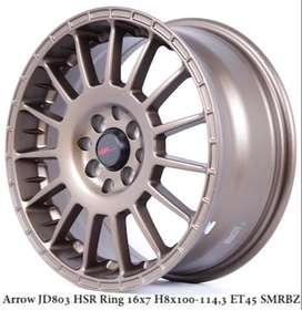 hsr velg racing R16x7 pcd 8x100-1143 bronz