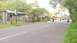 Tanah pinggir jalan raya kaliurang Km 16 dekat raminten