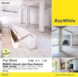 Disewakan Ruko didaerah Jl Soekarno Hatta, Kendal - K6136
