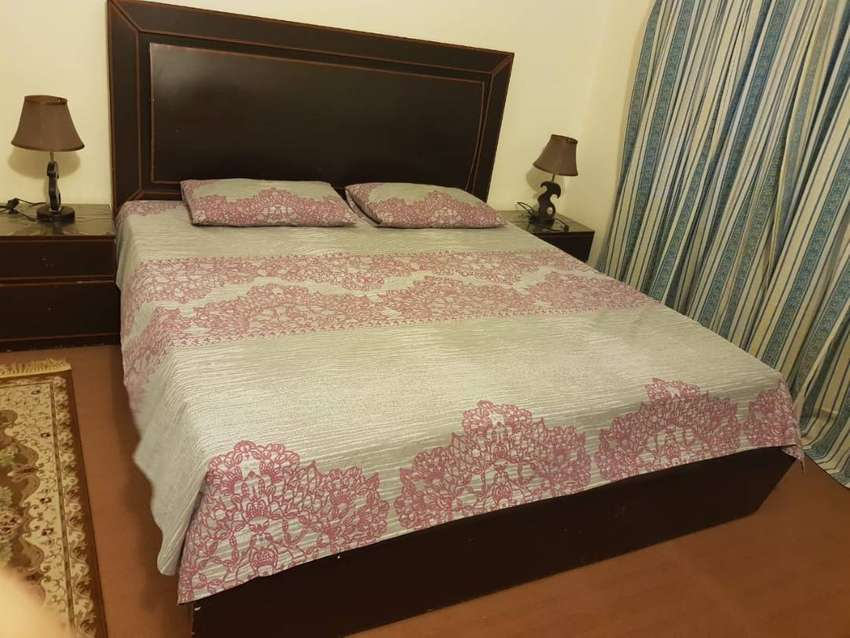 Double Bed with Side Tables and Dressing Table in Good Condition 0