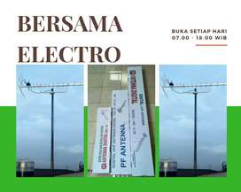 Workshop pasang baru sinyal antena tv outdoor