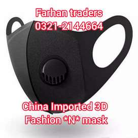 Fashion China Imported 3D Face Mask 4 sale  *wah cantt* Customers