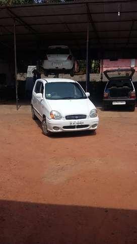 Santro white car