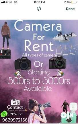 Rent all model canon camera
