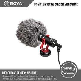 BOYA BY-MM1 Universal Cardioid Shotgun Microphone VLOG Mic Camera