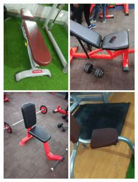 Availability of gym products (all cross trainer cycle bench dumbbell)