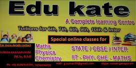 Special classes for Math,physics and chemistry