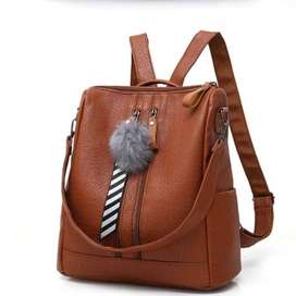 Women Fashionable Leather Backpack With Shoulder Strap LIMITED STOCK