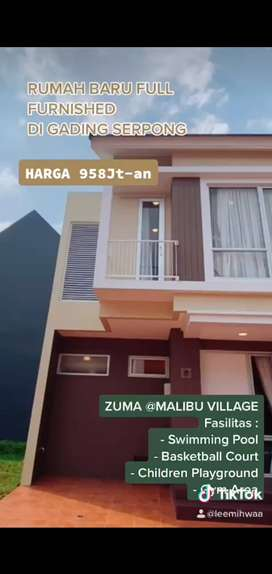 Rumah furnish 968jtan zuma malibu village gading serpong angs 7jutaan