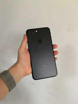 iphone 7 plus + 128gb black fullset