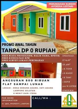 Promo Perumahan Tanpa Uang Muka DP 0 RUPIAH