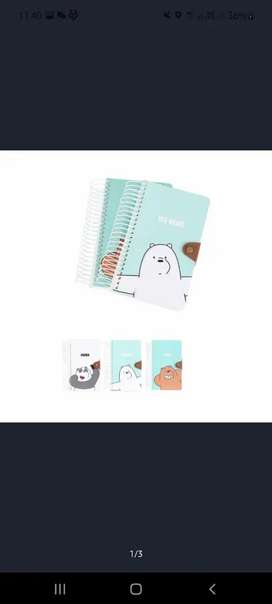 LARGE WIREBOOK MINISO WE BARE BEARS