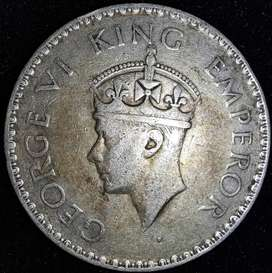 1941 1 Rupee Silver George Old Coin Old Coins Rare Antique Antiques